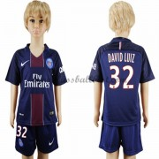 Fussball trikotsatz kinder Paris Saint Germain PSG 2016-17 David Luiz 32 heimtrikot..