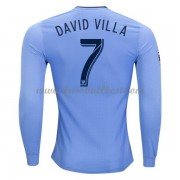 New York City fußball trikots 2017-18 David Villa 7 heimtrikot langarm..