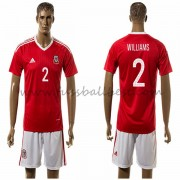 Nationalmannschaft trikot Wales 2016 Williams 2 heim fußballtrikots..
