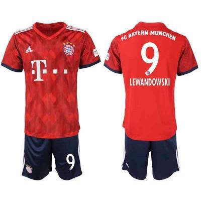 Fussball Trikotsatz Kinder Bayern München 2018-19 Robert Lewandowski 9 Heimtrikot